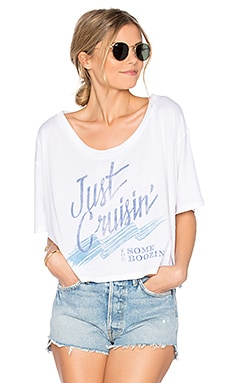 Just Boozin Baggy Beach Tee in White