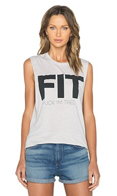 The Laundry Room Fit Muscle Tank in Grey