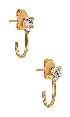 CZ Gold Huggie TAI Jewelry $28