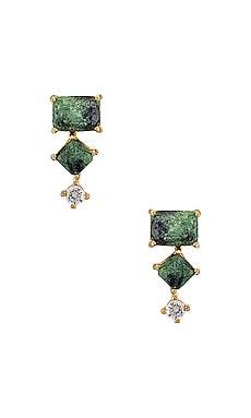 3 Stone Tourmaline Ear Climber TAI Jewelry $65