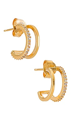Double Hoop with CZ TAI Jewelry $39