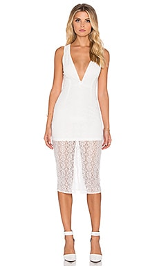 tiger Mist Last Chance Midi Dress in White