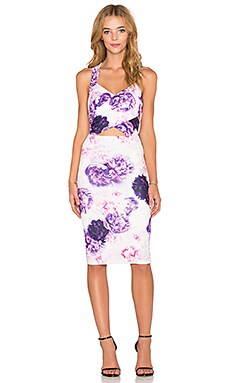 tiger Mist Crossover Dress in Lilac Bloom