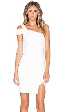 tiger Mist Talk To Me Off Shoulder Dress in White
