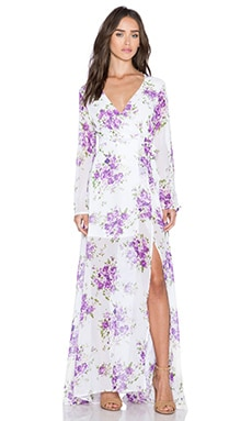 tiger Mist Sweet Floral Maxi Dress in Lilac