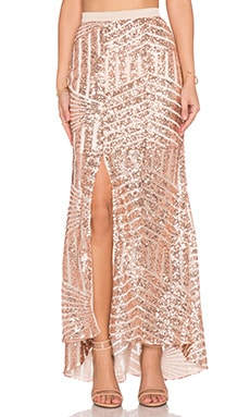 tiger Mist Girl Around Town Sequin Skirt in Blush