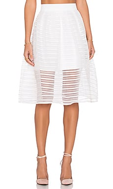 tiger Mist Twist Midi Skirt in White