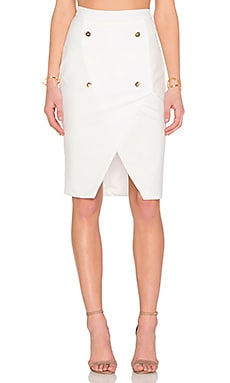 tiger Mist Wrap You Up Midi Skirt in White