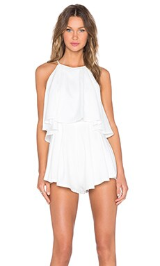 tiger Mist Sweetheart Playsuit in White