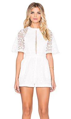 Southern Belle Playsuit in White