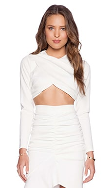 tiger Mist The Lover Crop Top in White