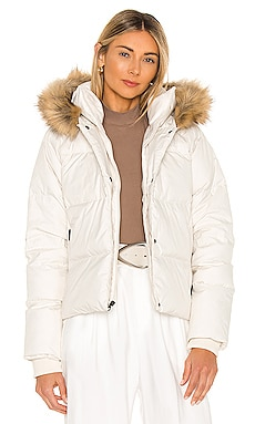 Dealio Down Crop Jacket With Faux Fur Trim The North Face $249 NEW