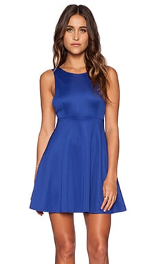 Toby Heart Ginger Avril Skater Dress in Cobalt Blue