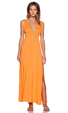 Toby Heart Ginger x Love Indie Cut Out Maxi Dress in Orange