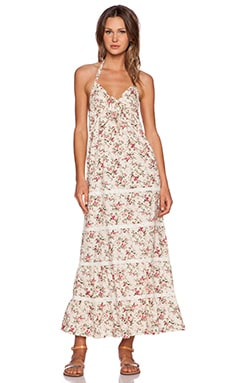 Toby Heart Ginger Vintage Blossom Maxi Dress in Pink & Cream Floral Print