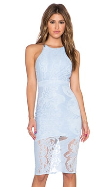 Toby Heart Ginger x Love Indie Sophia Lace Midi Dress in Cornflour Blue