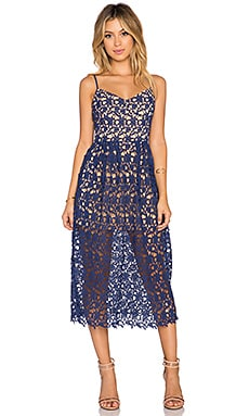 x Love Indie Bella Crochet Midi Dress