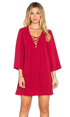 Toby Heart Ginger x Love Indie Free Spirit Lace Up Dress in Wine