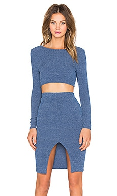 Toby Heart Ginger Anja Ribbed Skirt Set in Blue