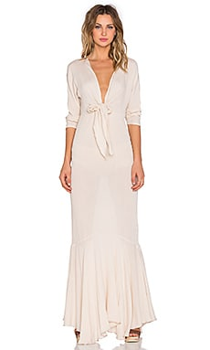 Toby Heart Ginger x Love Indie Mermaid Maxi Dress in Beige