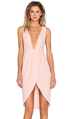 x Love Indie Lina Midi Dress in Peach