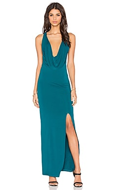 Toby Heart Ginger Mia Drape Front Maxi Dress in Teal