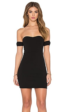Toby Heart Ginger x Love Indie Bardot Mini Dress in Black