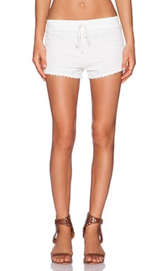 Toby Heart Ginger Hippie Lace Crochet Shorts in White