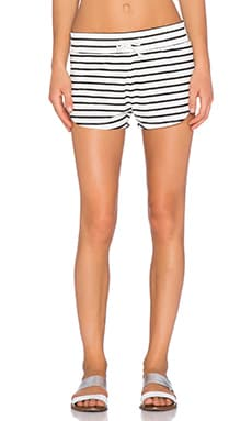 Toby Heart Ginger Stripe Runner Short in Black & White Stripe