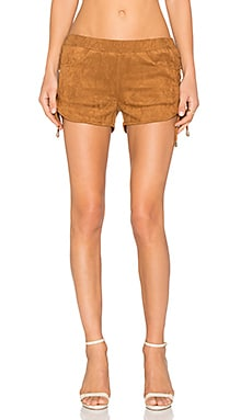 Toby Heart Ginger Alex Suede Short in Tan