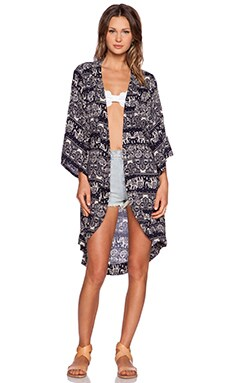 Toby Heart Ginger Safari Cape in Print