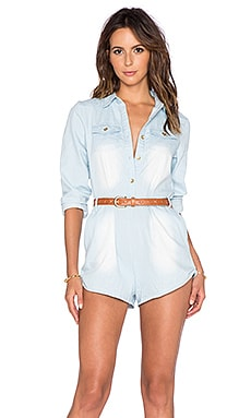 Toby Heart Ginger Gone Riding Romper in Chambray