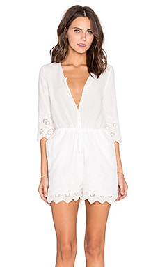 Toby Heart Ginger Daisy Picking Embroidered Romper in White