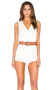 Stella Sheer Billow Front Romper in White
