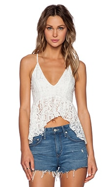 Toby Heart Ginger Lily Lace Peplum Top in White