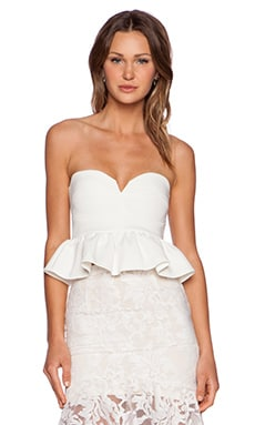 Toby Heart Ginger x Love Indie Wonderland Peplum Bodice Top in White