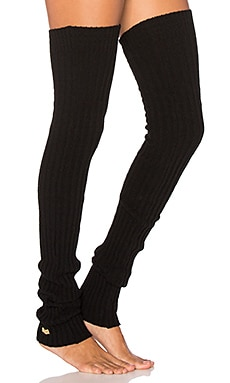 toesox Thigh High Leg Warmer in Black