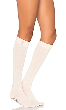 toesox Scrunch Knee High Sock in in Confetti