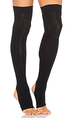Open Heel Leg Warmer in Black