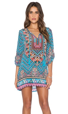 Tolani Stacey Dress in Turquoise