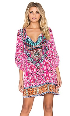 Tolani Sasha Mini Dress in Fuchsia Ikat