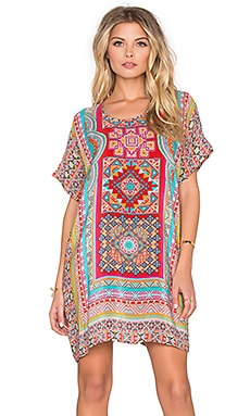 Tolani Tiffany Mini Dress in Red Aztec