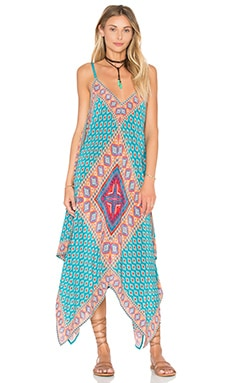 Drew Dress en Teal Diamond