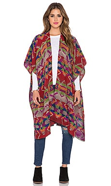 Tolani Topper Poncho in Red