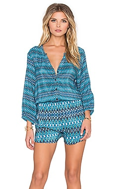 Ingrid Romper in Zigzag