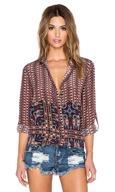 Tolani Evelyn Blouse in Tribal