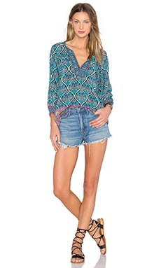 x REVOLVE Tanya Top in Denim Dial Print