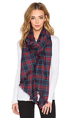 Tolani Tartan Blanket Scarf in Red