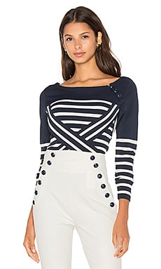 TOMMY x GIGI Technical Stripe Sweater