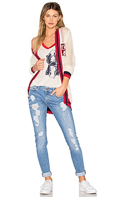TOMMY X GIGI Openwork Cardigan in Snow White